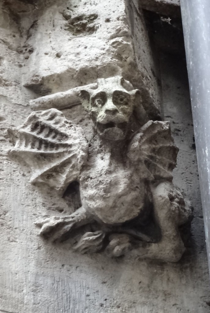 This rather cute grotesque shares a striking resemblance to actor Willem Dafoe