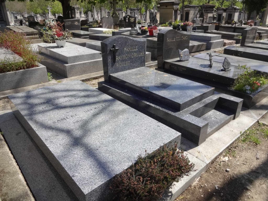 Mr Beckett may well have been waiting for Godot, but every one else resting in Montparnasse Cemetery were probably just waiting for God