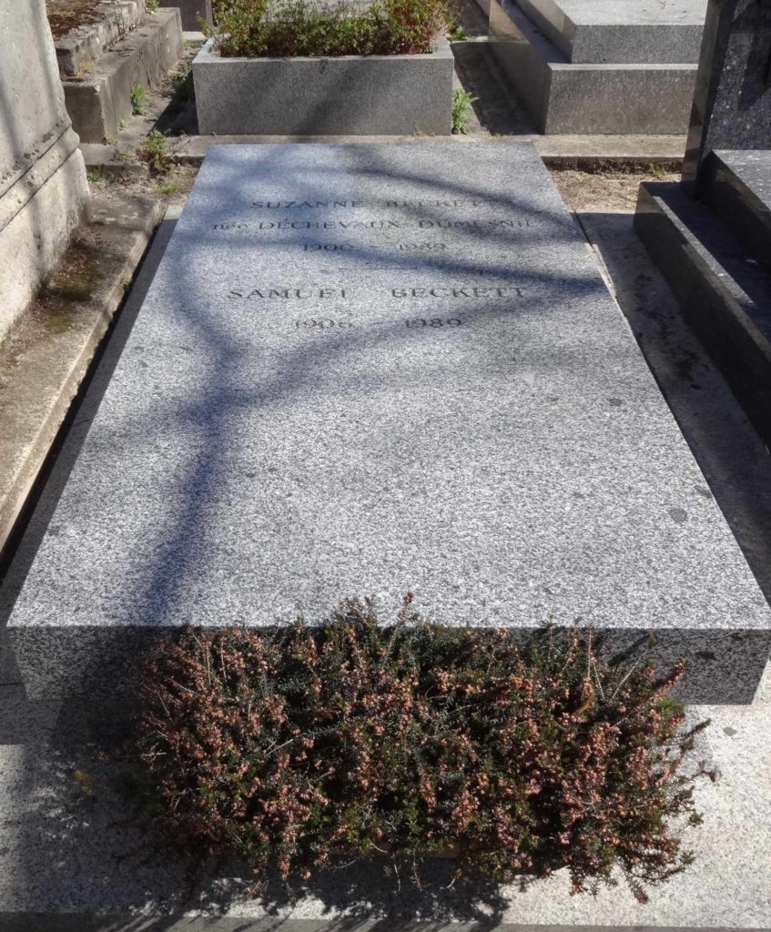 Fans of Samuel Beckett are clearly more discreet with their tributes in Montparnasse Cemetery