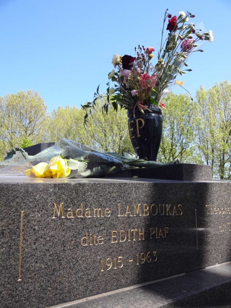 Her grave is often covered in flowers from fans paying tribute to their 'Little Sparrow'