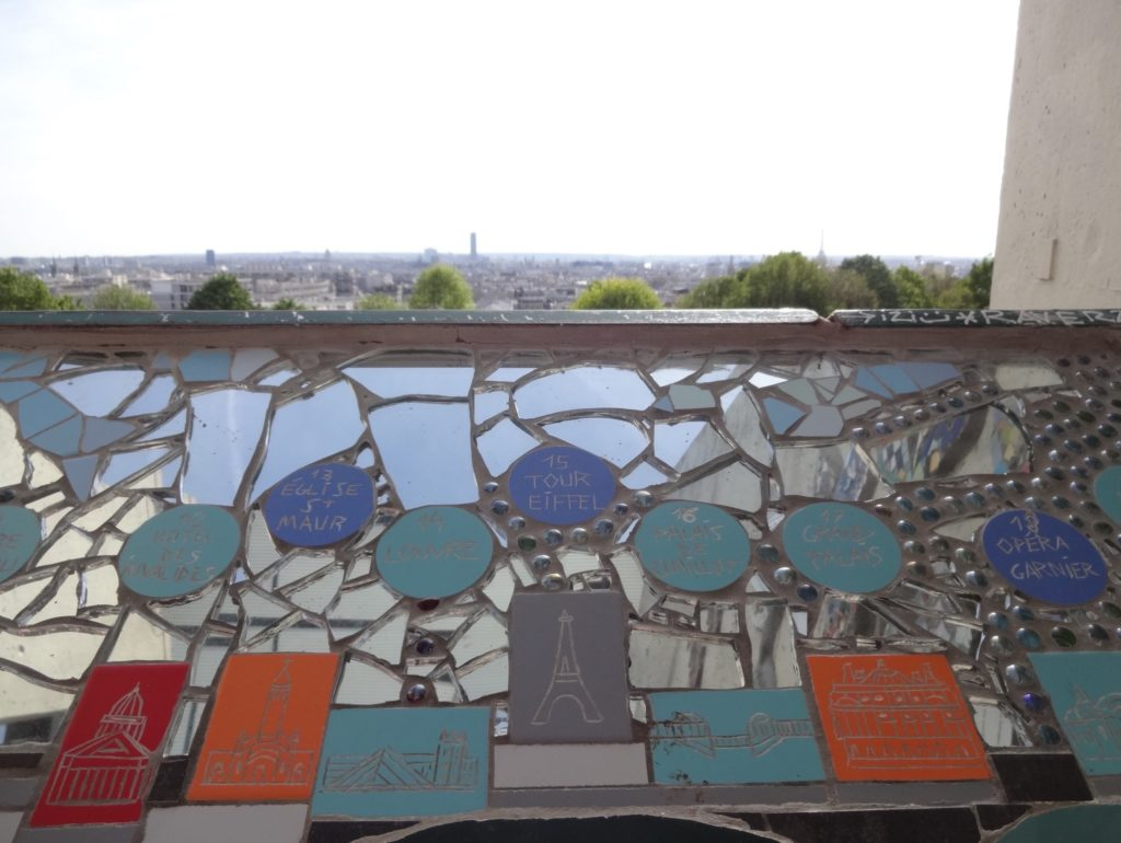 ...including this mosaic table helping visitors pinpoint Paris's most famous buildings on the horizon beyond
