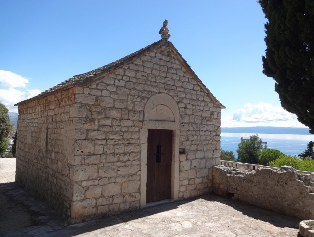 St Nicolas the Traveller chapel has looked out over the Adriatic here since the thirteenth century. It was rebuilt in 1919 and again in 1990