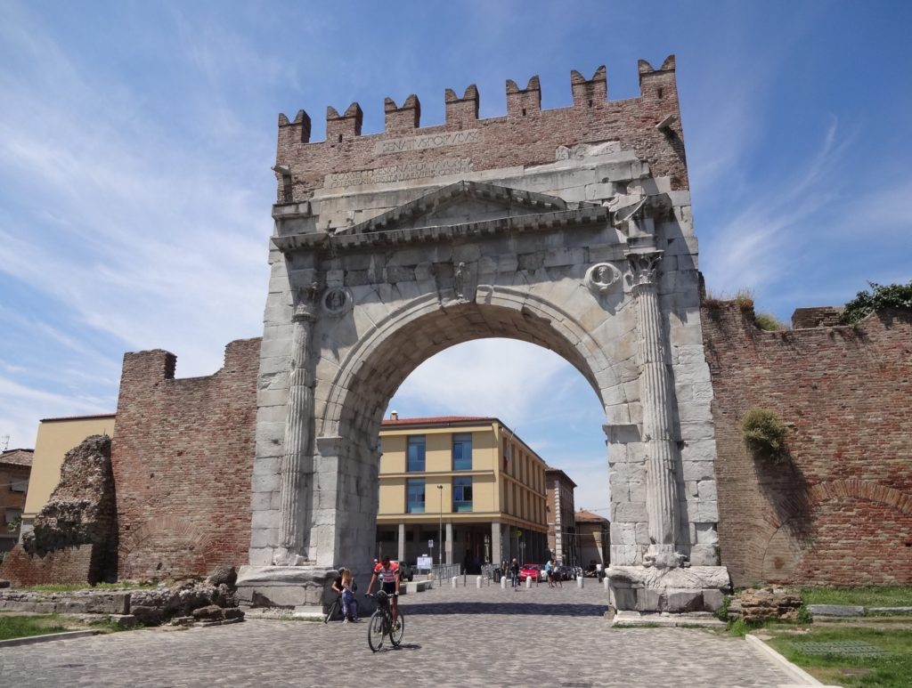 All roads, in Rimini at least lead to Rome: the Roman arch marked the beginning of the main route from Rimini to the Roman centre