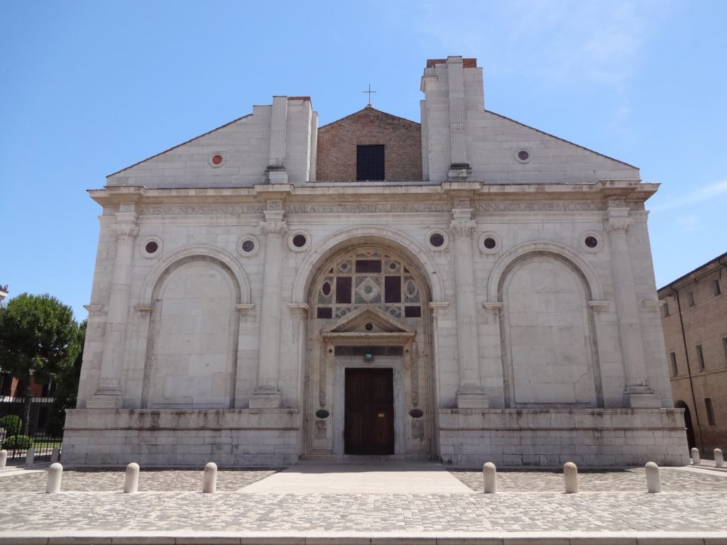 The controversial Malatesta Temple, Rimini's Catholic cathedral. Is it covered in pagan symbols?