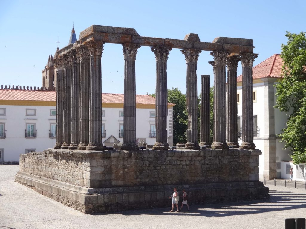 The temple is also known as the Temple of Diana possibly because it was discovered in the nineteenth century behind the walls of a slaughter house giving it a tenuous association with the Roman Goddess of the Hunt
