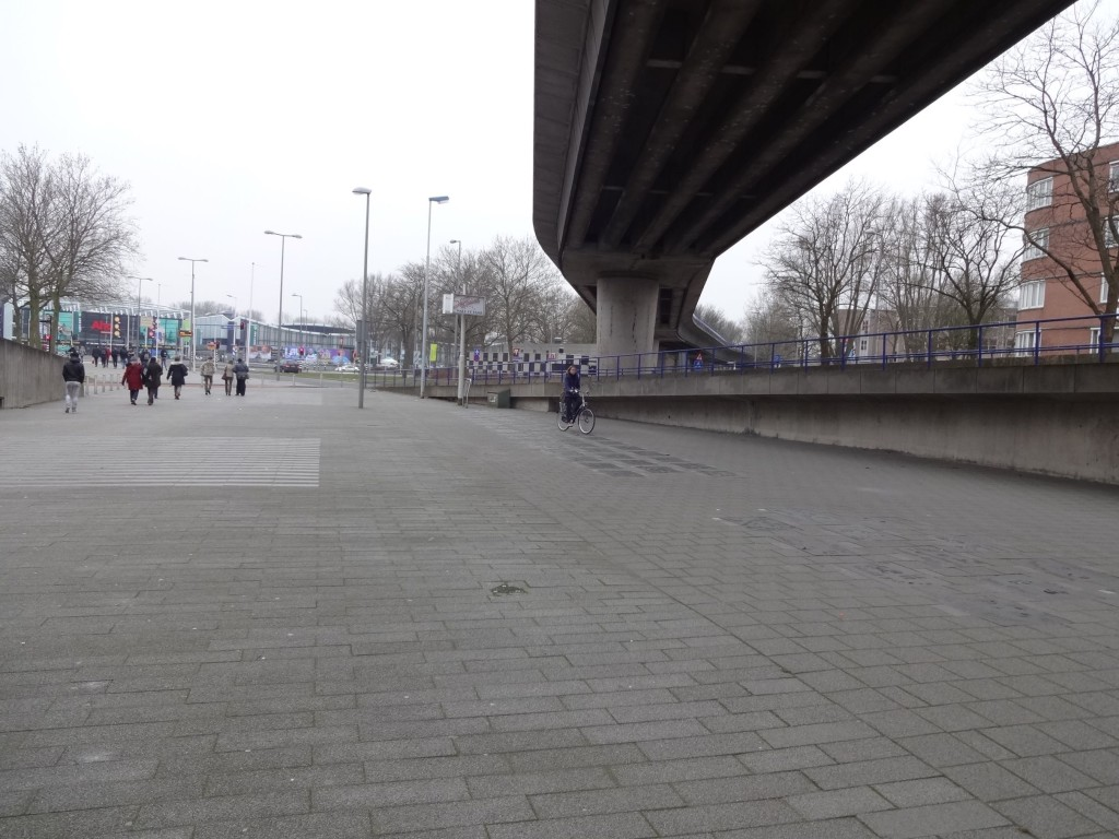 The less than inspiring first impression of Zuidplein, from the metro station's exit