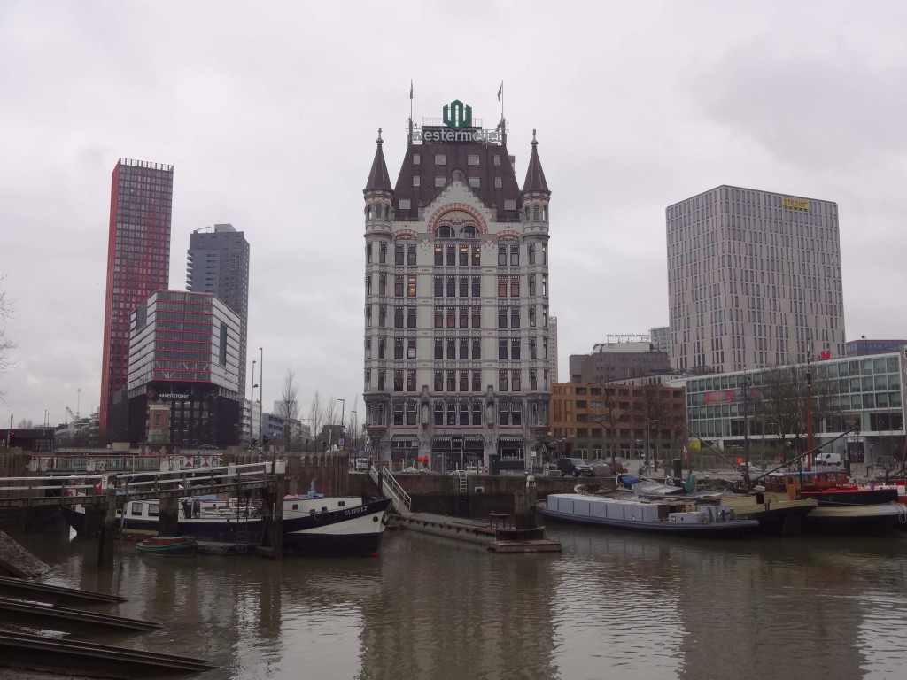 At just over 40 metres high, the Witte Huis was the first high-rise building in Europe. It is now dwarfed by the late-twentieth century 100-metre-plus skyscrapers built nearby