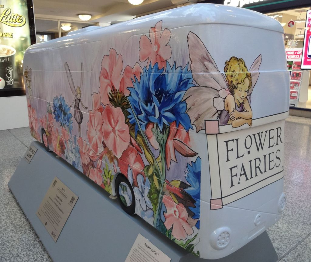 Michelle Heron's delightful design was inspired by Croydon born Cicely Mary Barker's famous Flower Fairies book illustrations
