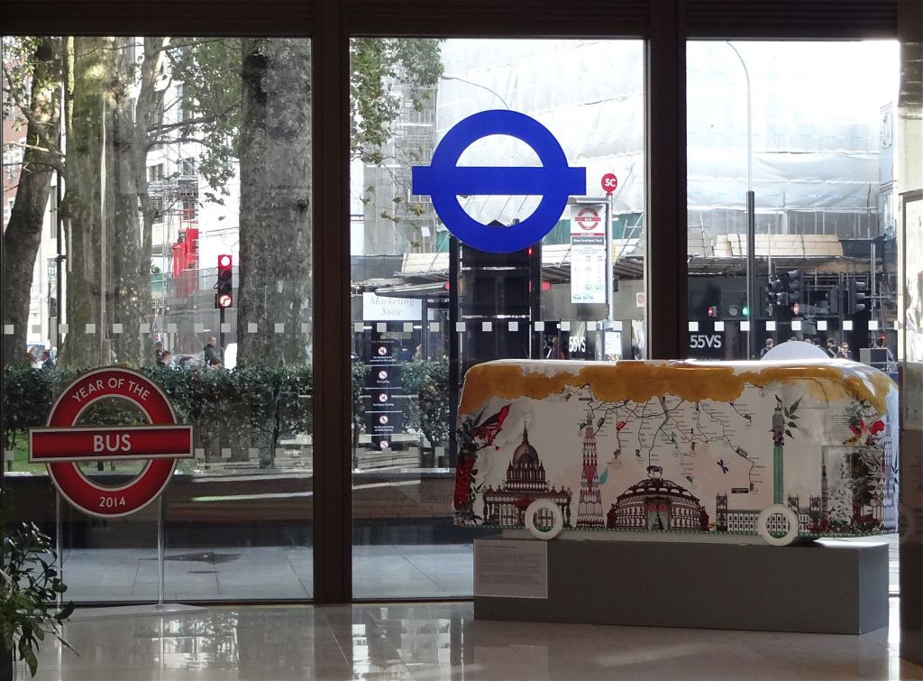 Kristjana S Williams's second sculpture was on display inside TfL's HQ a few weeks before the official Year of the Bus launch. Thank you to TfL Security for allowing me inside the building to take a closer look at it
