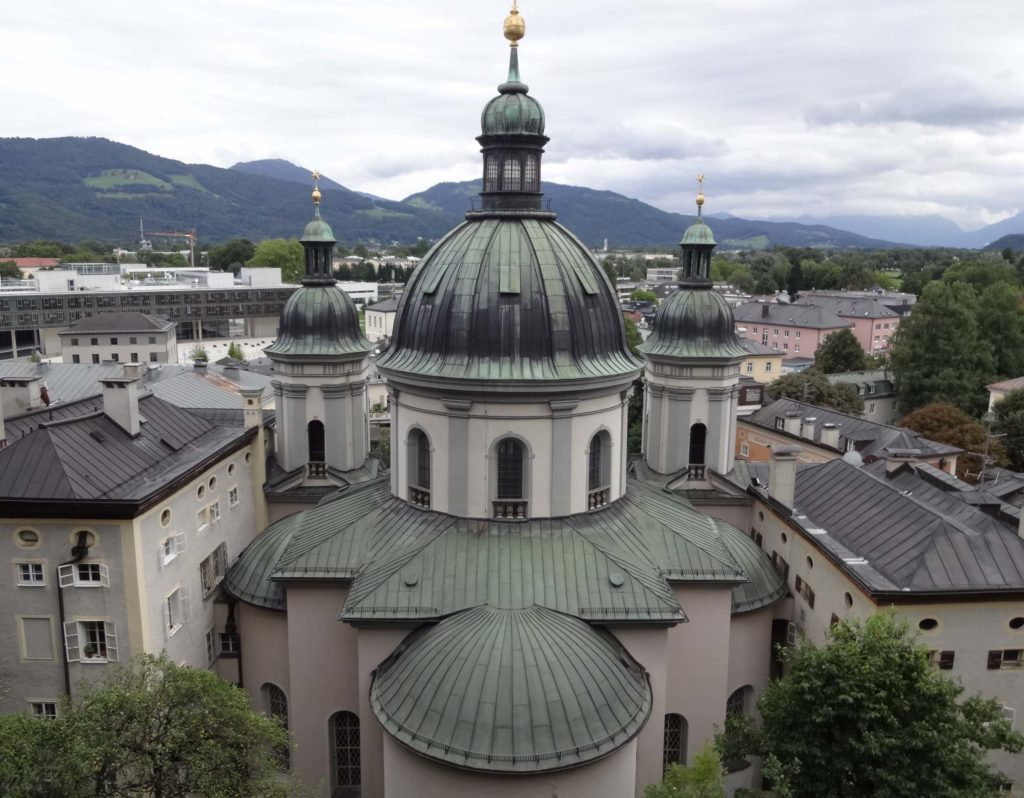 Walking back into town from Nonnberg Abbey, one can enjoy the same stunning views across Salzburg that Maria and Julie Andrews would have enjoyed