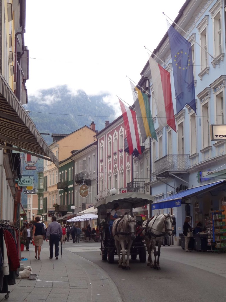 One of Bad Ischl's pretty shopping streets used by local traffic only