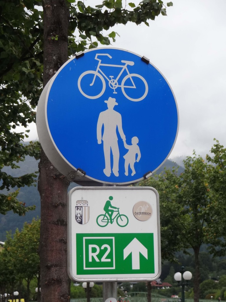 Heisenberg symbols were dotted all around Bad Ischl, usually by pedestrian crossings