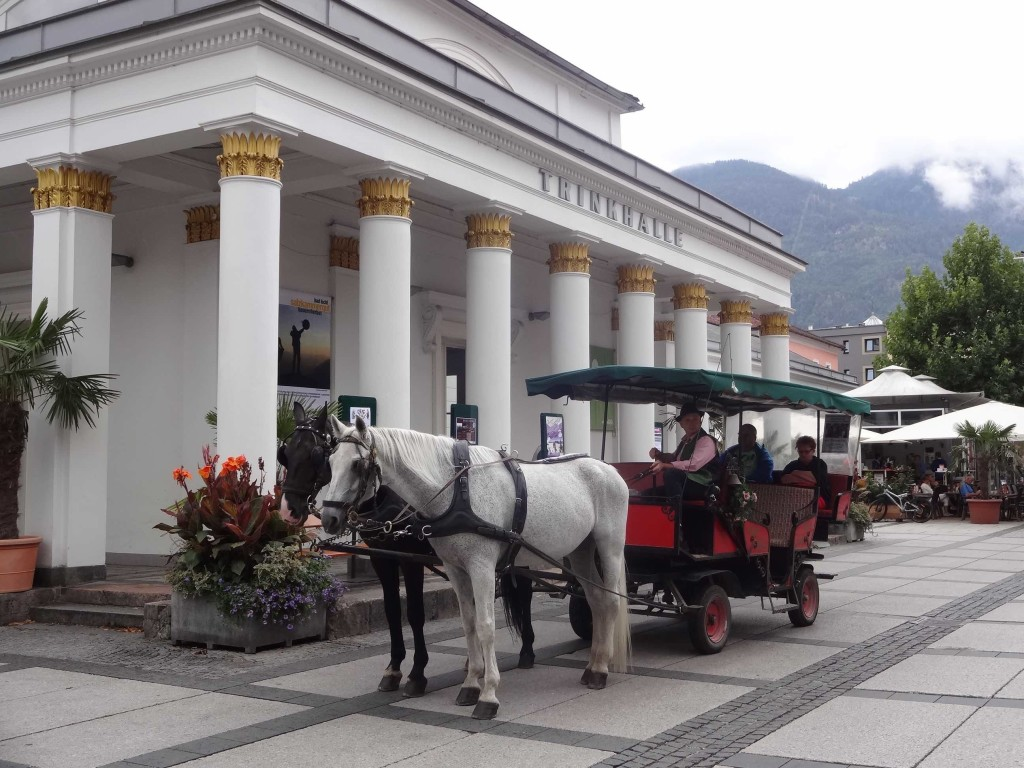 A traditional Austrian tourist attraction outside the tourist information centre