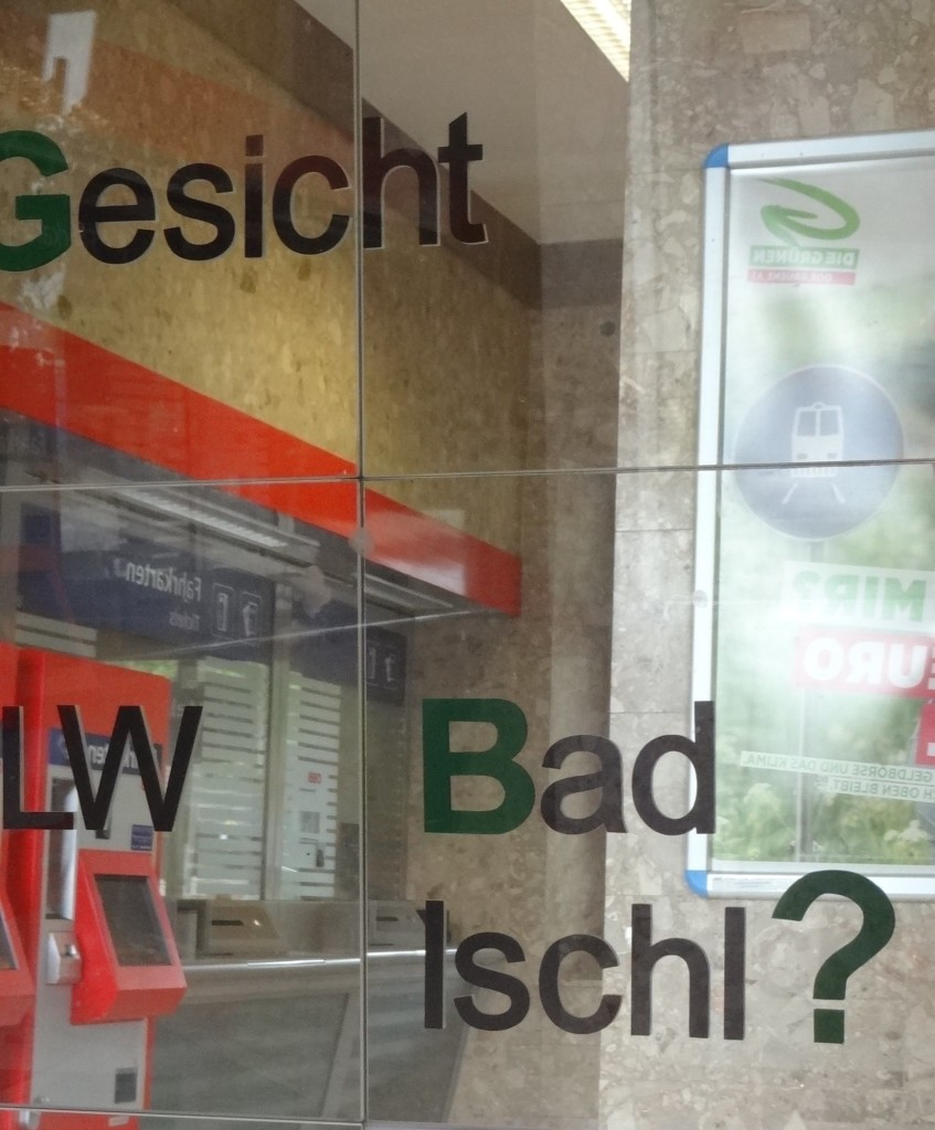 Inside Bad Ischl station, was it just coincidence that the typeface used was similar to the opening titles of Breaking Bad?