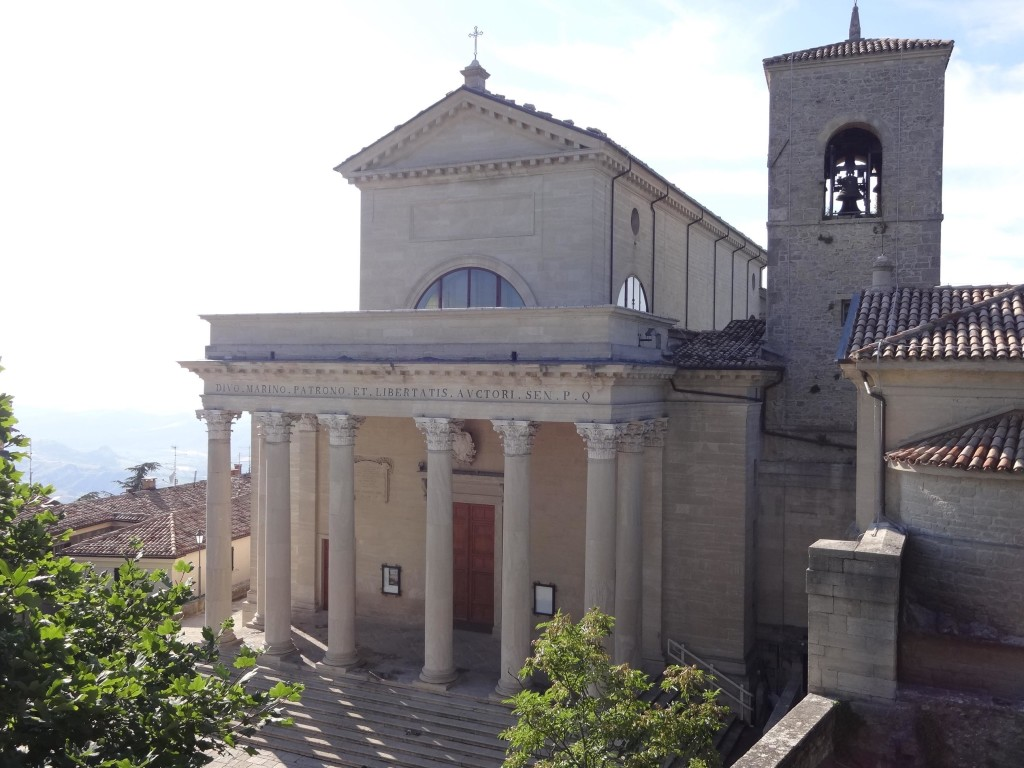 Beside the Little Church of Saint Peter is the Grand Basilica dedicated to Saint Marinus