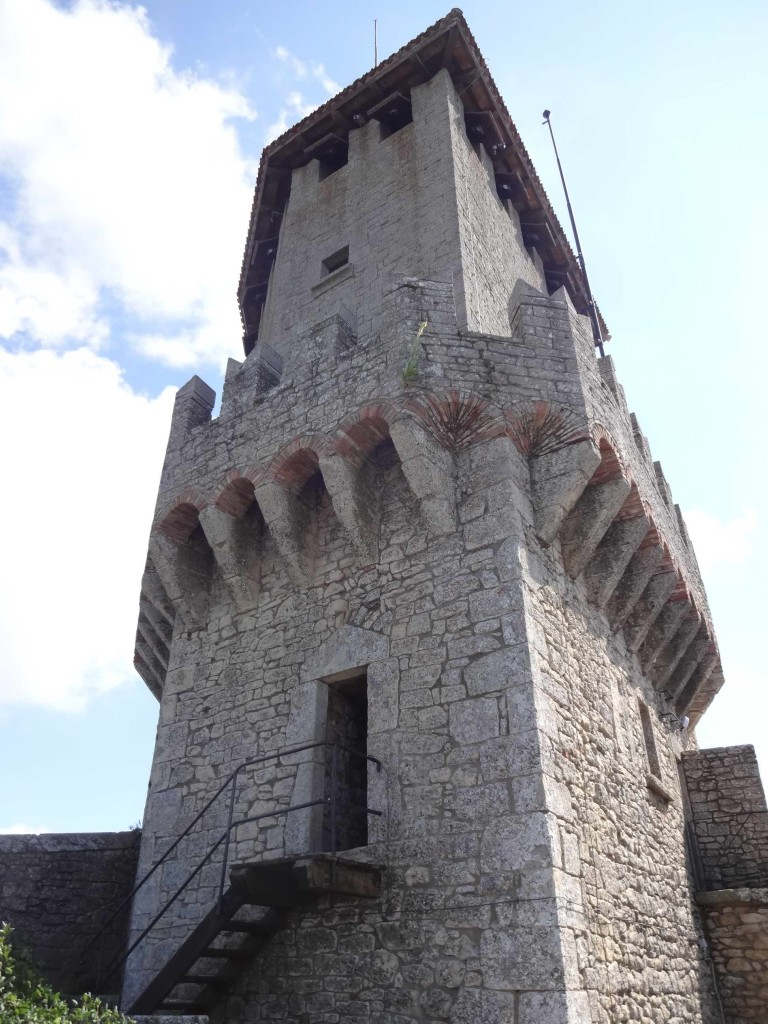 Guaita: the First Tower and most photographed tower in San Marino, apparently used as a prison until 1975