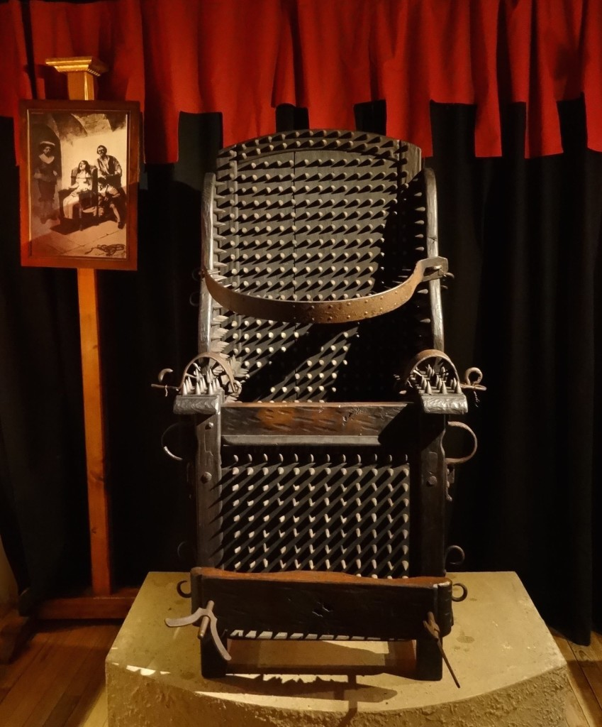 No, not the Iron Throne from the HBO TV series but an original seventeenth century interrogation chair from Italy