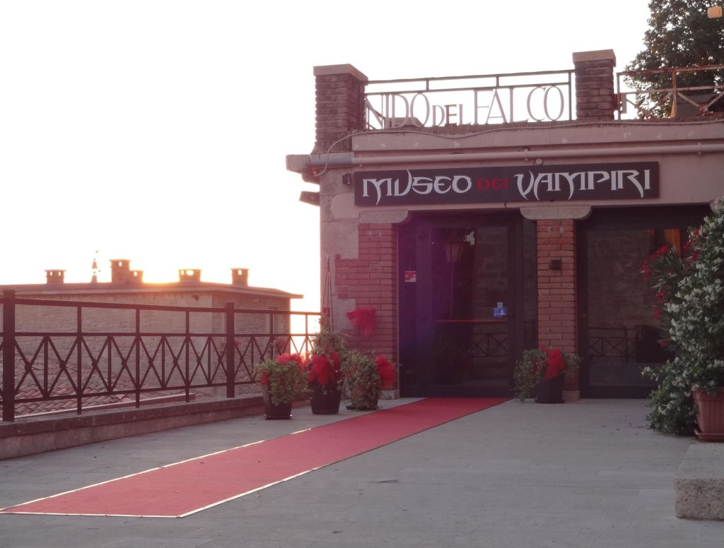 San Marino's Museum of Vampires, ironically opened during daytime hours and closed at sun set