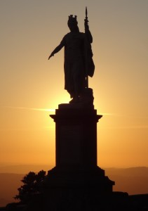 The Statue of Liberty against the San Marino setting sun. Unique and symbolically San Marino? Well, I was impressed with the shot