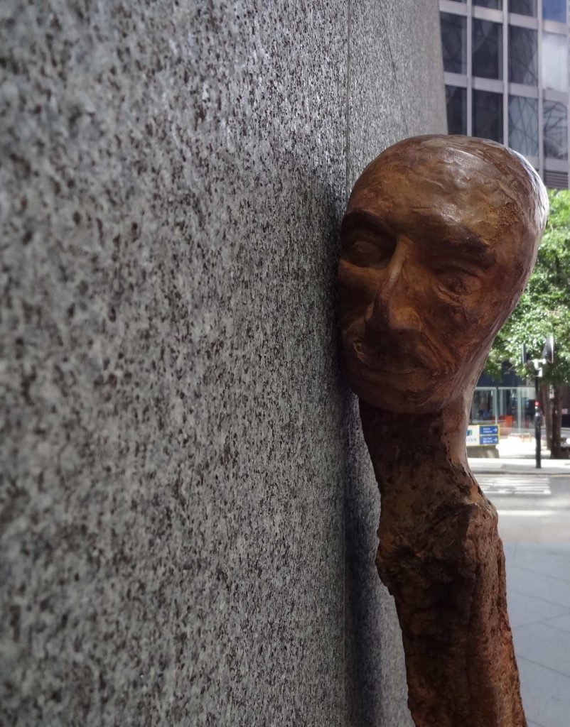 Sculpture in the City London 2016, Enrico David, Untitled, face close up