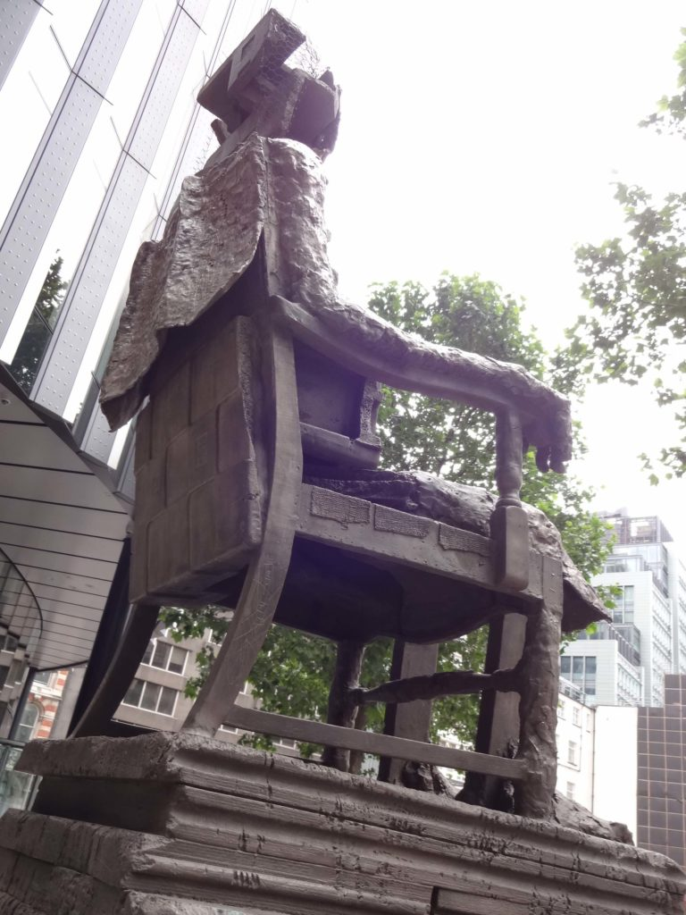 Sculpture in the City London 2016, Huma Bhabha, The Orientalist, Fenchurch Avenue, side