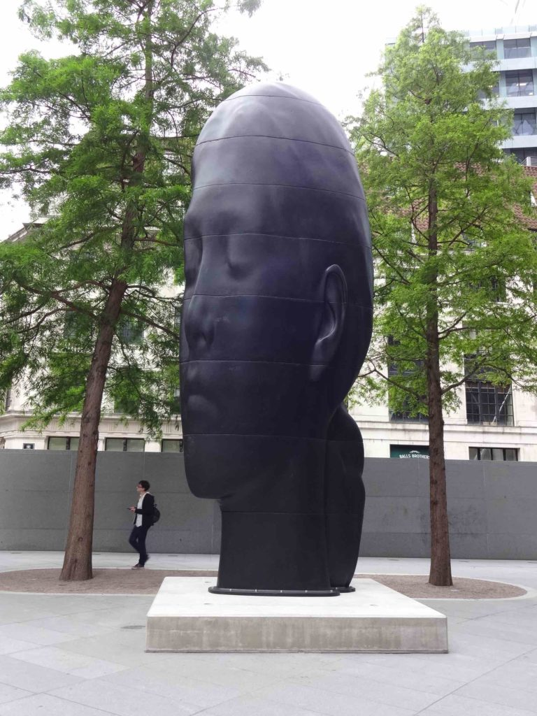 Sculpture in the City London 2016, Jaume Plensa, Laura, front