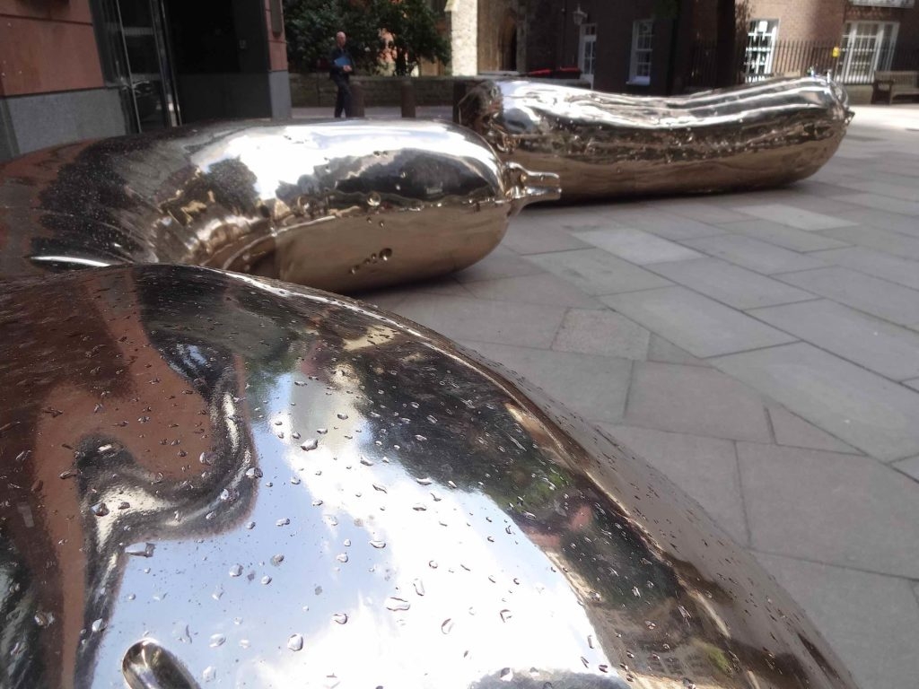 Sculpture in the City London 2016, Sarah Lucas, Florian:Kevin, blurred shot