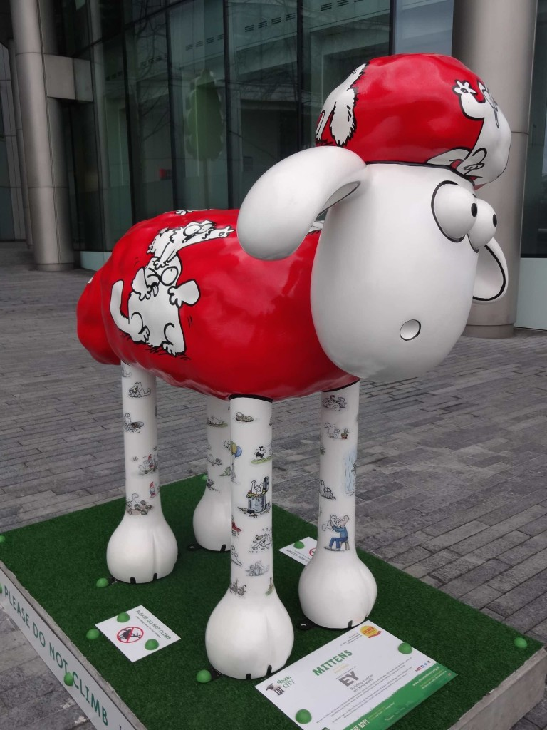 Shaun in the City London Bitzer's Trail, Mittens, More London, Simon Tofield, EY, side