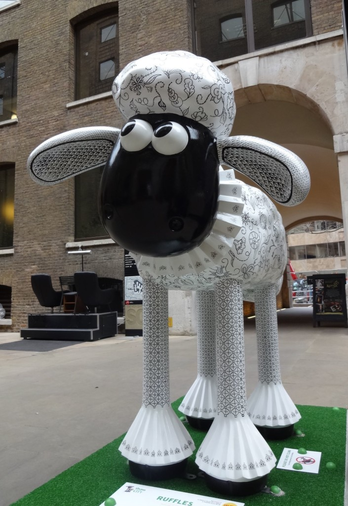 A Gloucestershire sheep spotted in Devonshire Square