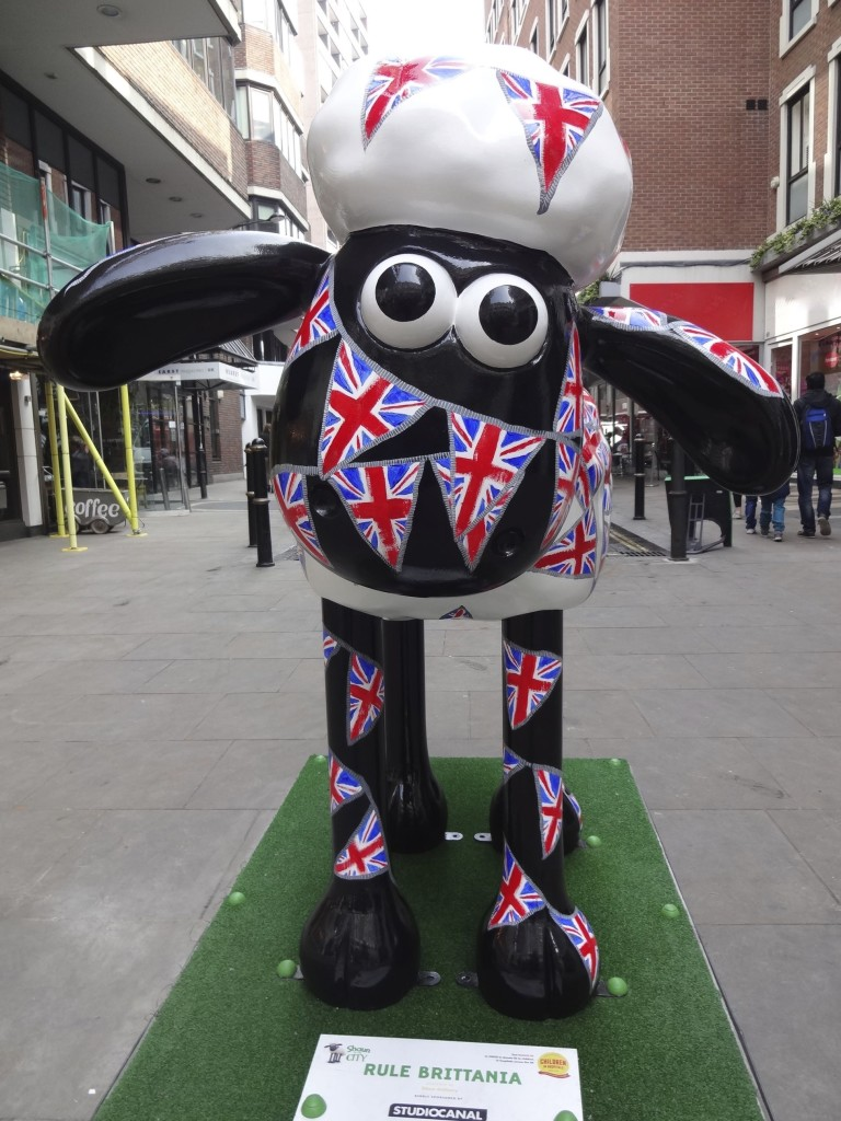 Shaun appears to be a little tied up at the moment. Bunting can be so fiddly to detangle (especially when one only has hooves)