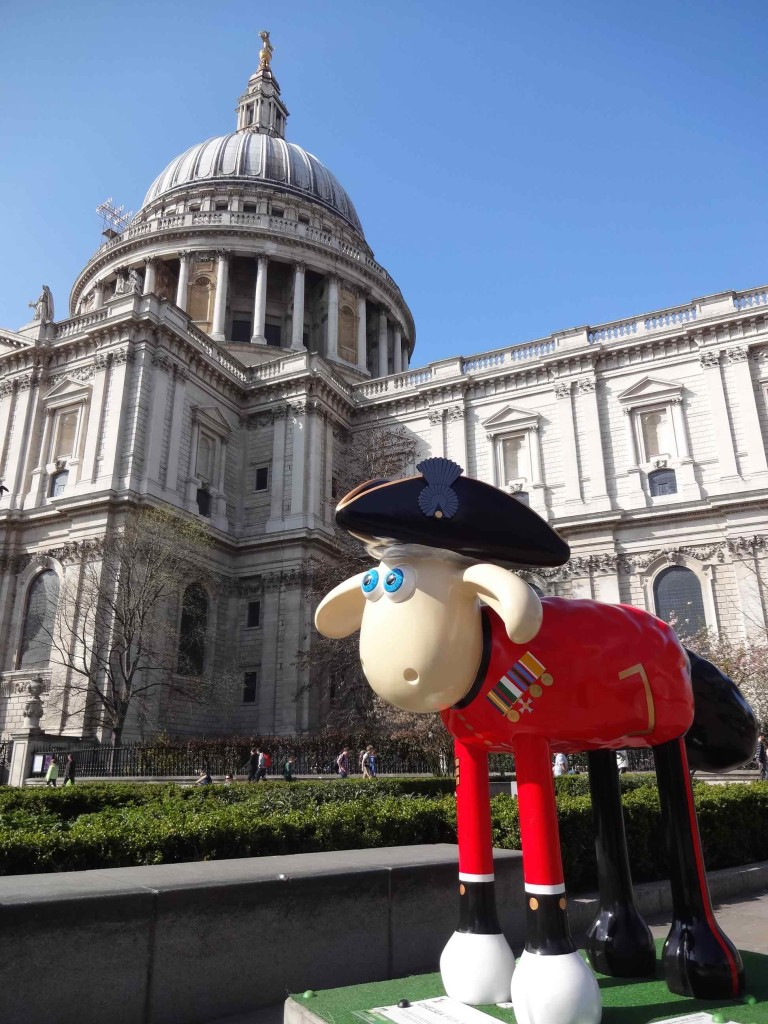 There's a large sheep pen(sioner) by St Paul's Cathedral