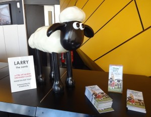 Shaun in the City London Shirley's 's Trail, Larry the Lamb, Visit the City Information Centre