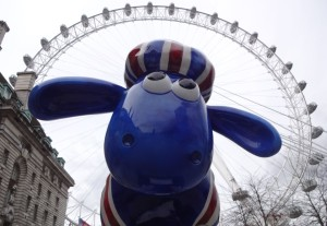 Is that really the London Eye or Saintly Shaun's halo?