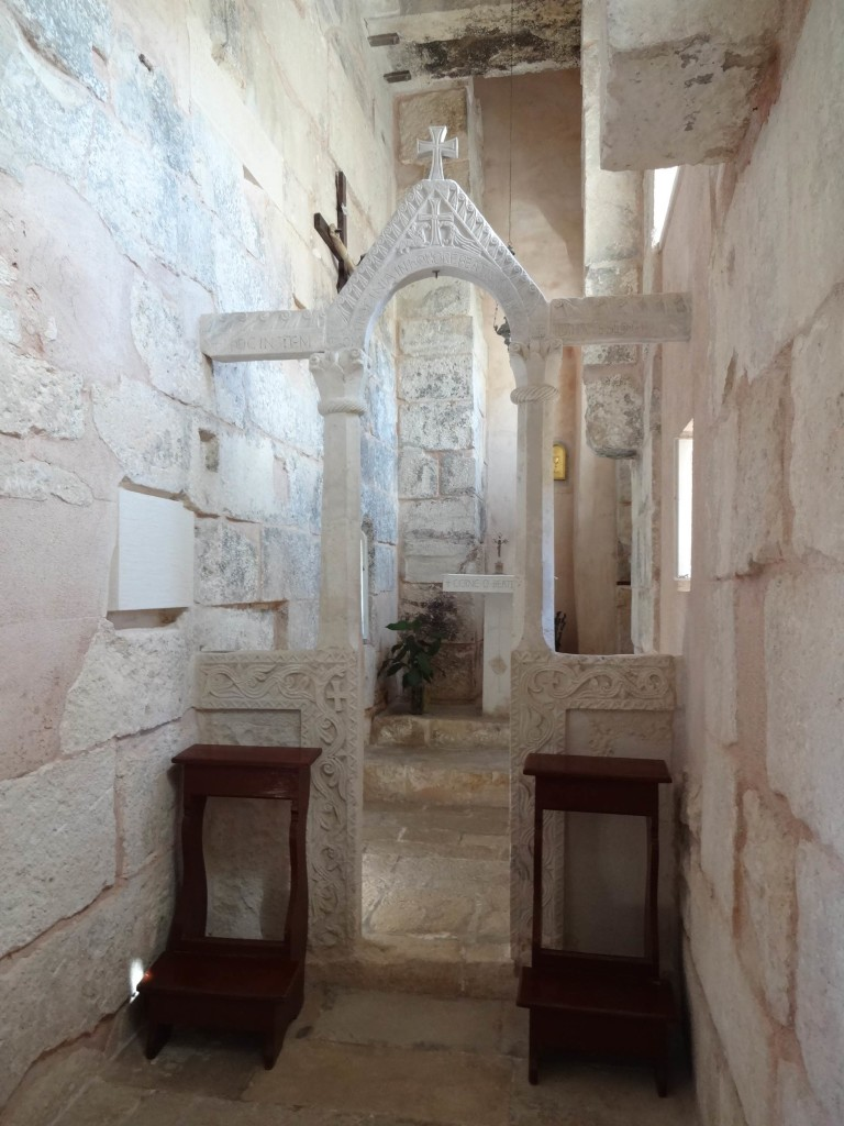 The charming Church of St Martin is so small, one couldn't swing a catacomb in it