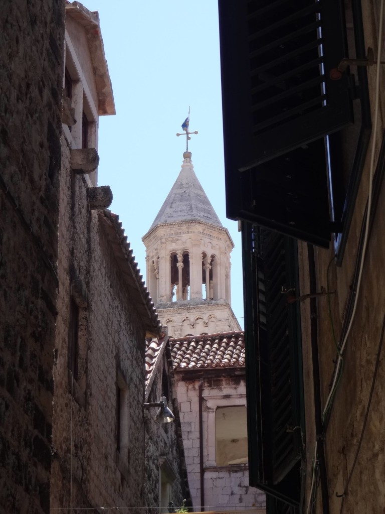 No signs required: the belfry can easily be found through the maze of alleyways inside Split's Old Town