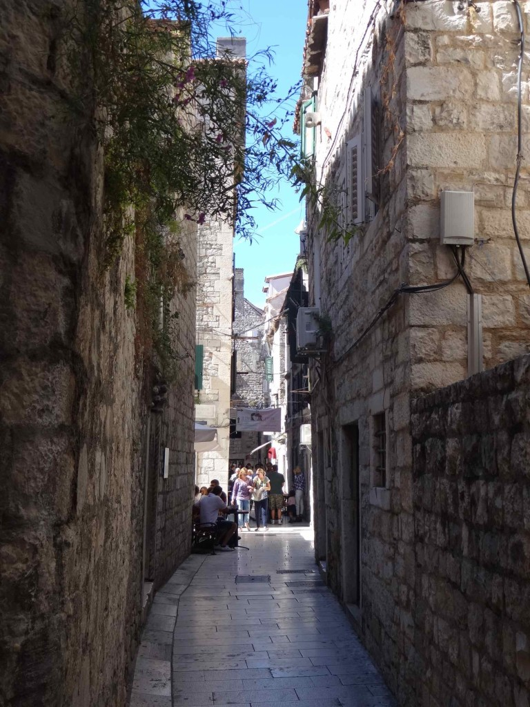 One of many alleyways to be explored within the grounds of Diocletian's Palace