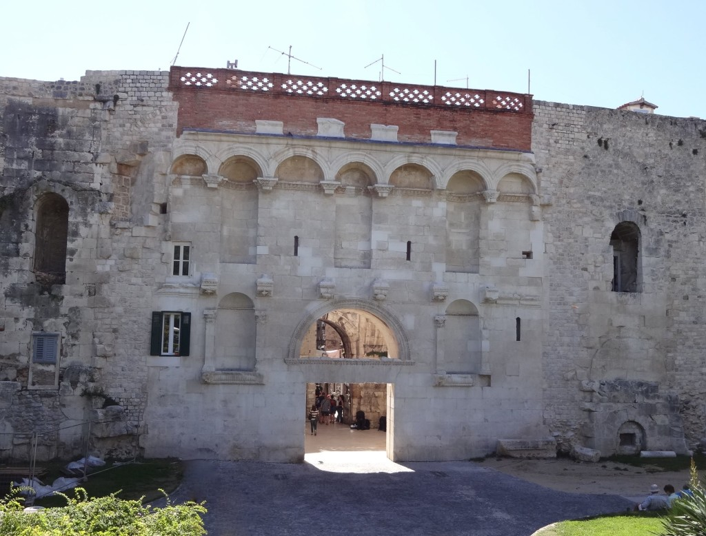 The 'Golden' Gate was originally the main entrance to the palace
