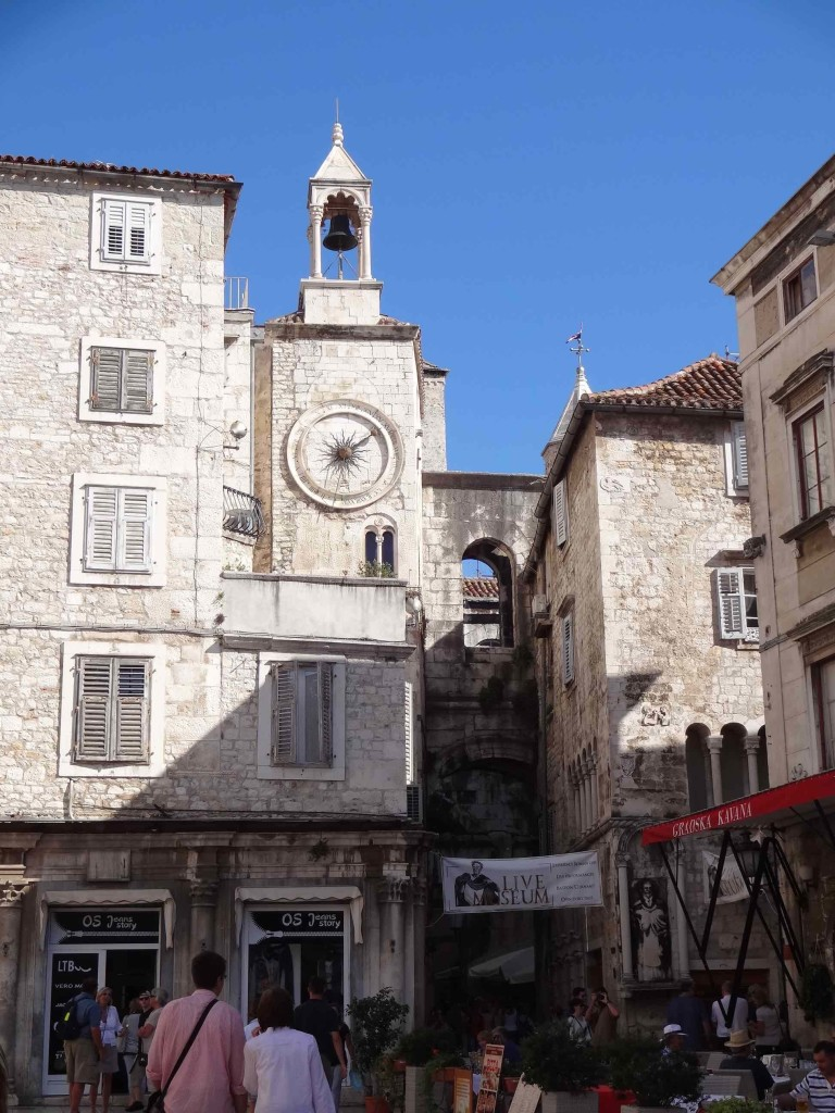 Leading into Diocletian's Palace via the Iron Gate to the west surrounded by a fine array of restaurants