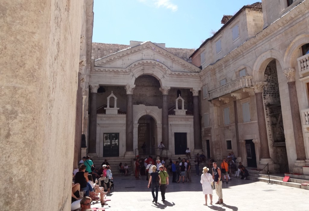 The Peristil, the two-thousand-year-old courtyard to the stunningly preserved living quarters of Diocletian's Palace