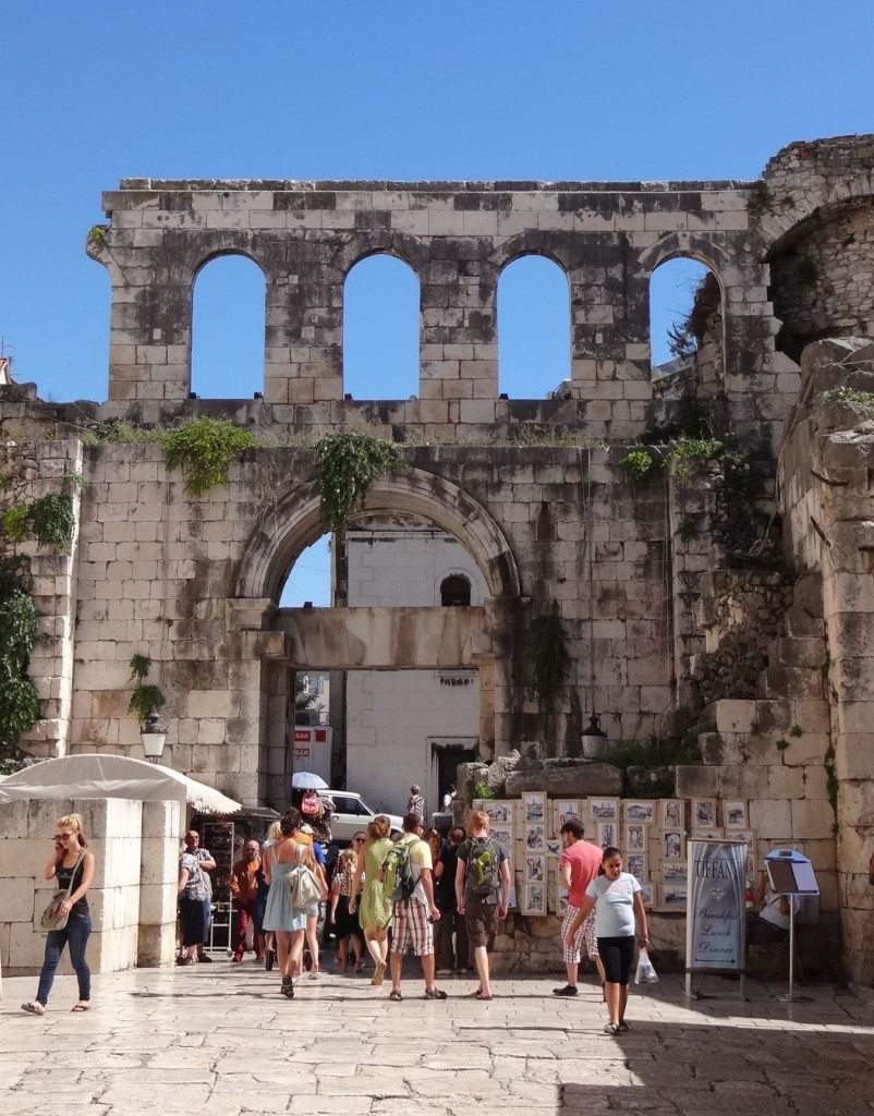 The 'Silver' Gate to Diocletian's Palace leading to the Perstil via the outdoor, artisan market