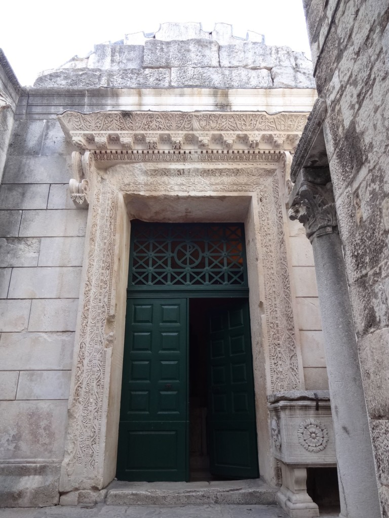 The entrance to the Temple of Jupiter dating almost two thousand years, except for the door which is probably only a few decades old