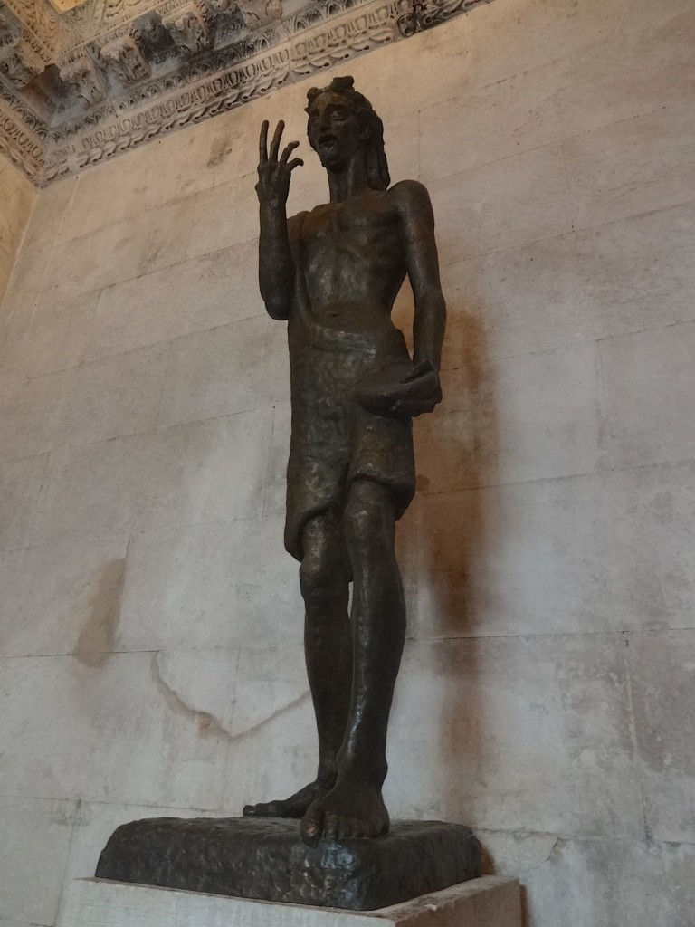 From certain angles, Ivan Meštrović's imposing twentieth century sculpture seems to portray John the Baptist as giving a rather inappropriate hand gesture to visitors