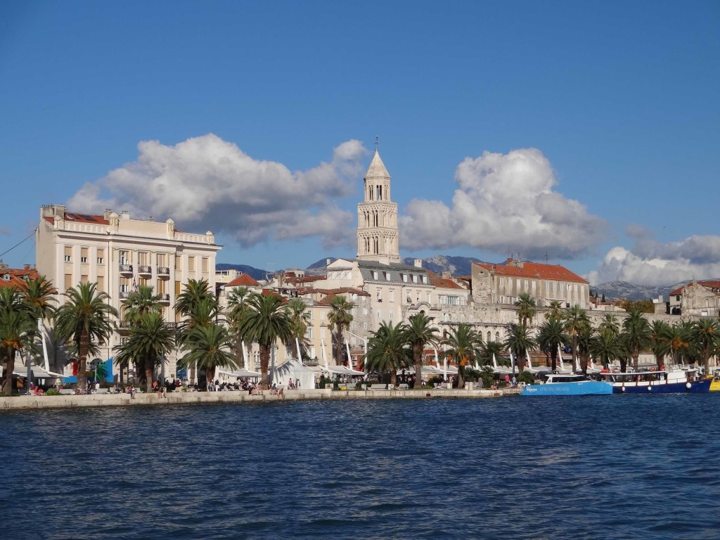 Split Diocletian's Palace from harbour