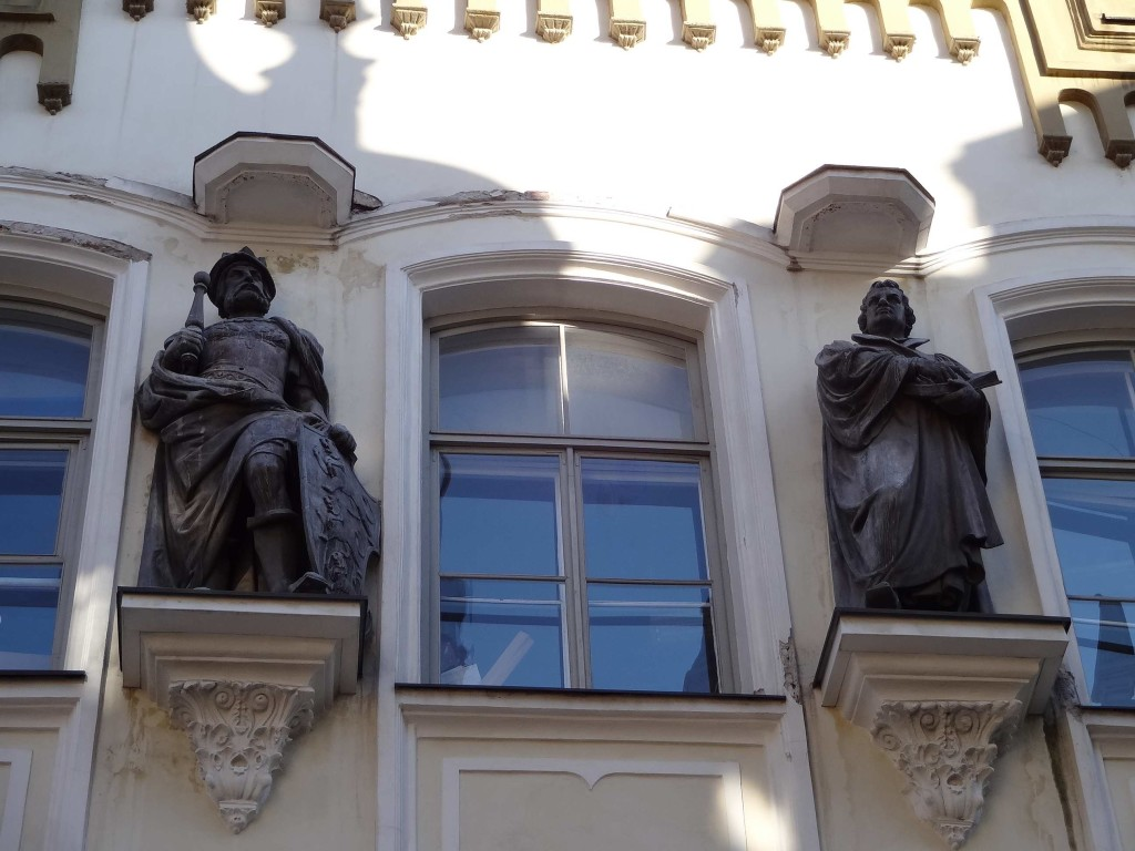 ... topped with statues of St Canute and Martin Luther, really high up