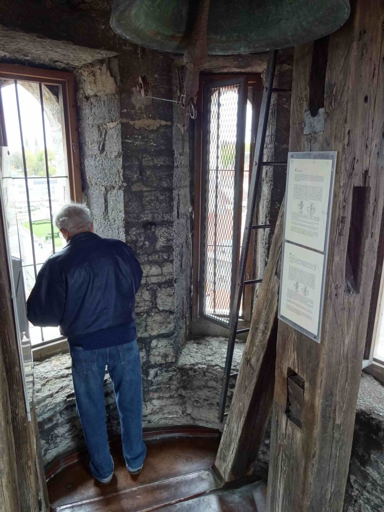 The viewing platform of the belfry was rather narrow, with room for only a handful of people at a time