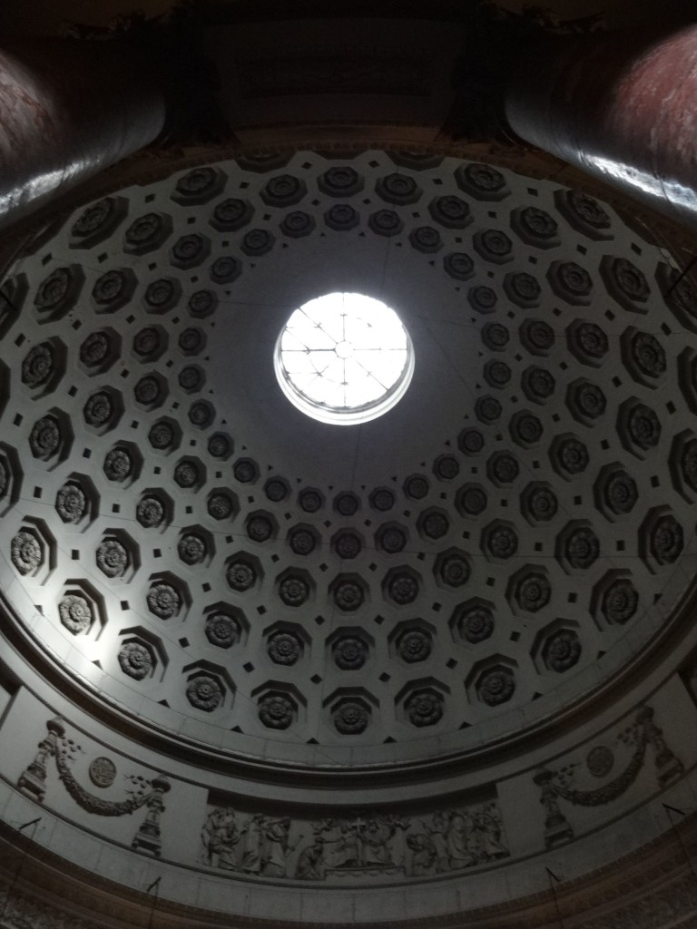 ... with a domed roof to match that of the Pantheon in Rome