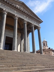 The famous steps of the Church of the Great Mother of God in Turin, star of The Italian Job