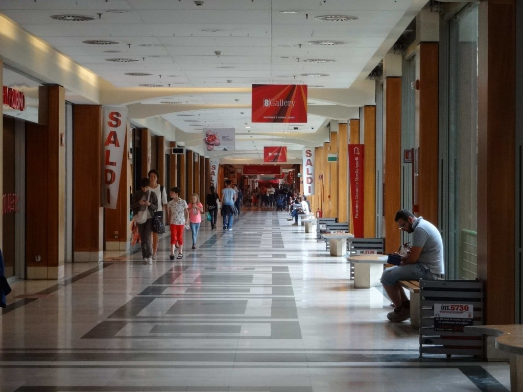 The first of two floors now dedicated to retail therapy at the old FIAT factory
