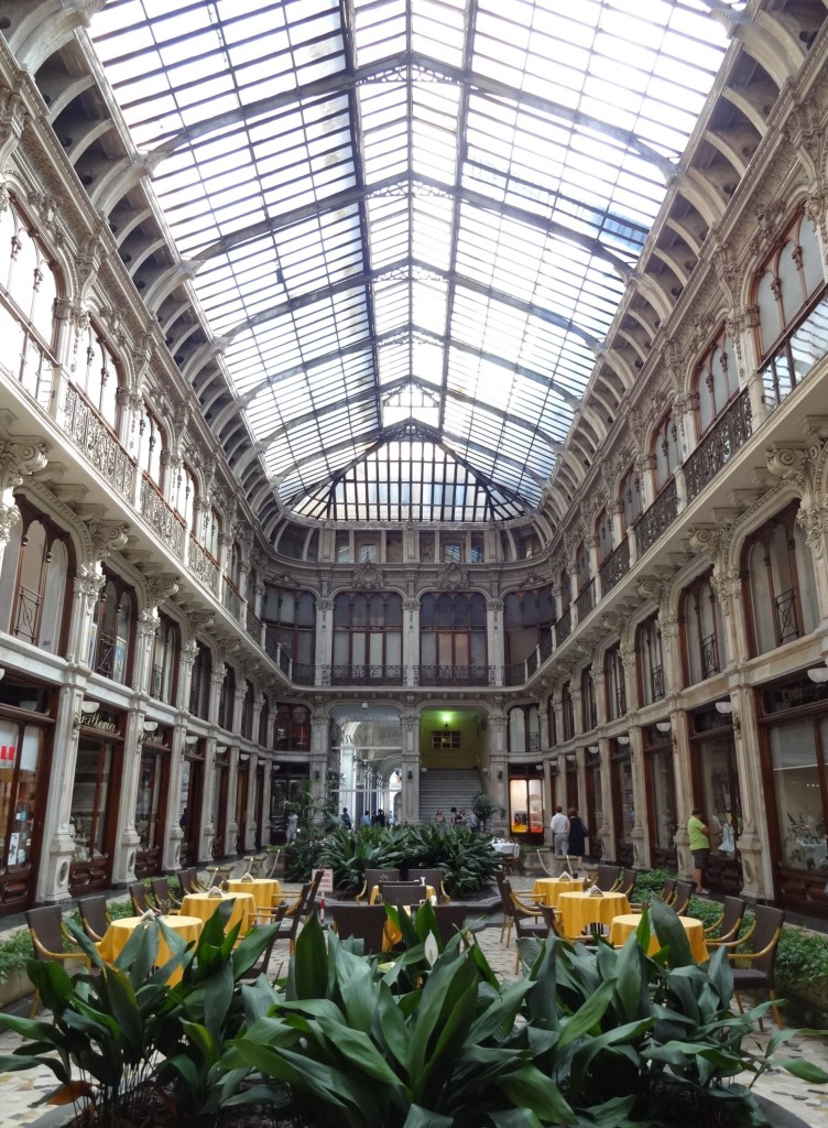 Designed by Pietro Carrera in the late nineteenth century, the Galleria dell'Industria Subalpina is a stunning mix of baroque and renaissance styles popular in the bourgeois shopping arcades of France at the time