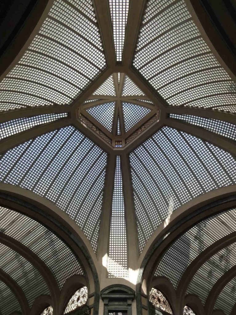 The delightful ceiling to the Galleria